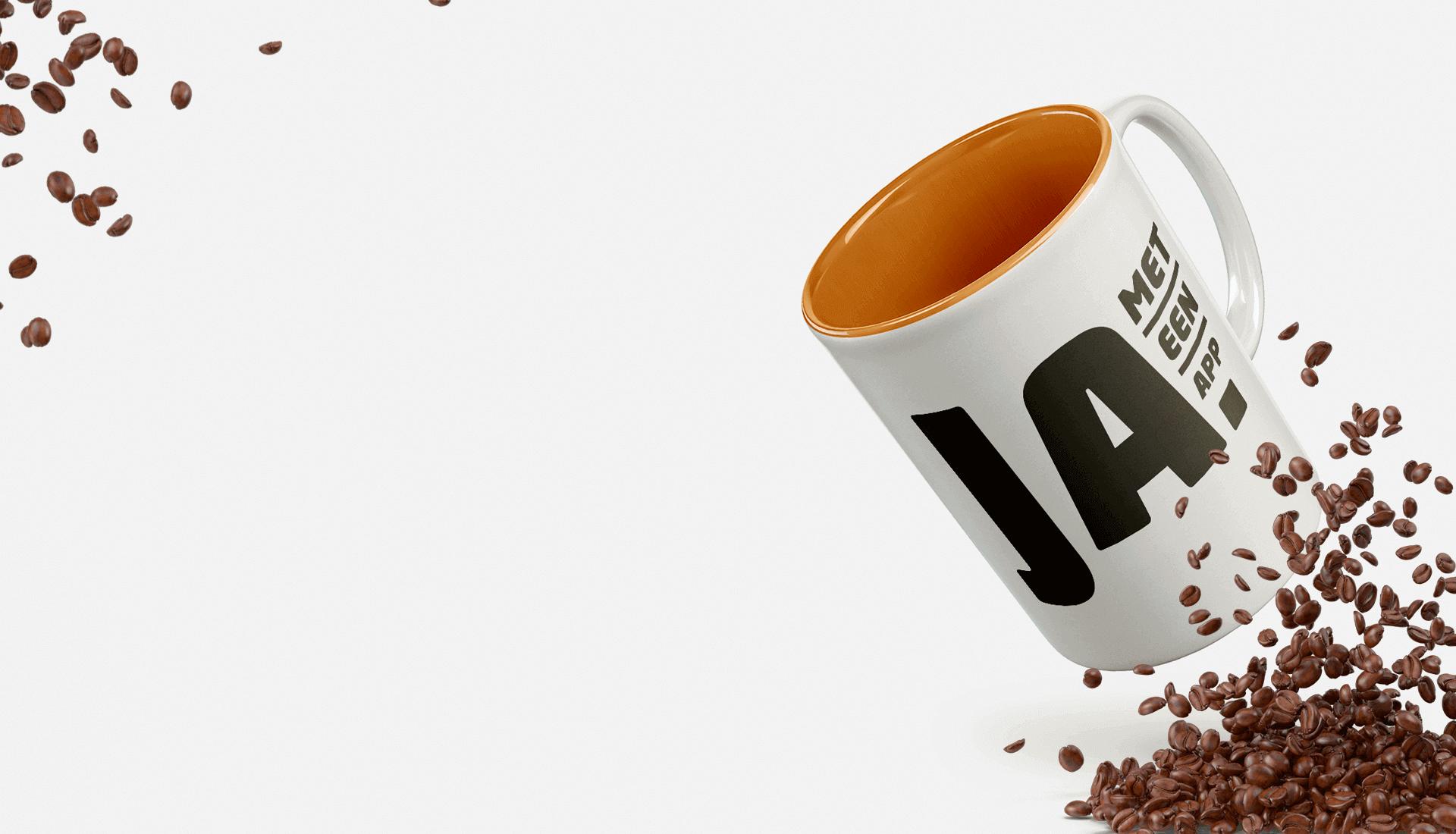 Wij bestellen koffie <br>met een <strong>app</strong>.<br> En jij?